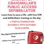 Image for the Tweet beginning: Craigmillar Community #defibrillator will be