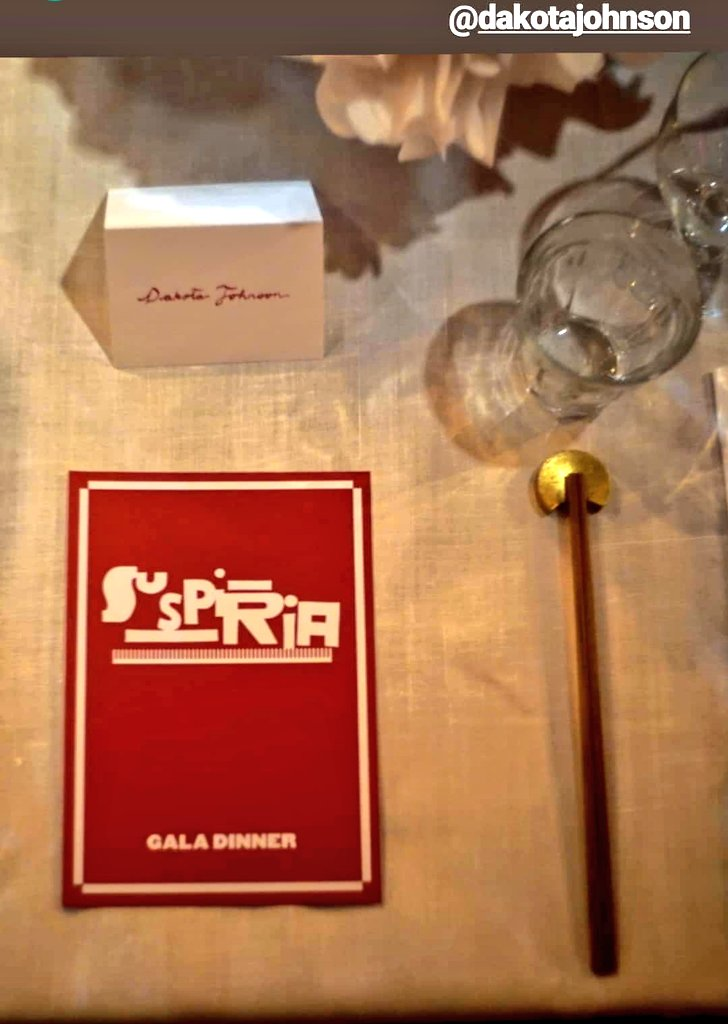 Time to party after premiere  #DakotaJohnson #Suspiria<br>http://pic.twitter.com/bl8wAeV66U