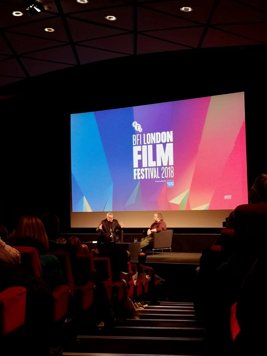 'I felt my heart beating, as well as the reaction in the room. It was the first time I watched it with an audience ' - Peter Jackson join @KermodeMovies  for a Q&A after the World Premiere of   #TheyShallNotGrowOldat  #LFF.