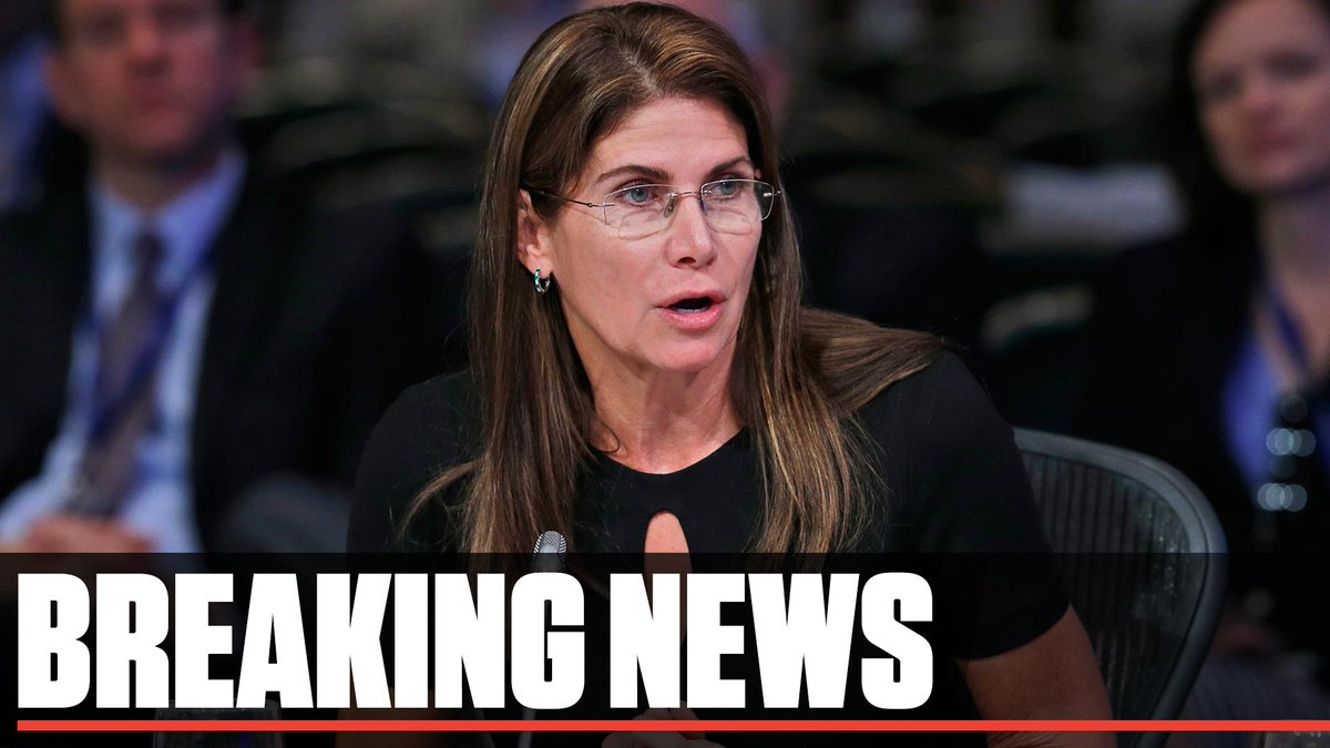 Breaking: Mary Bono is out as USA Gymnastics interim president and CEO.