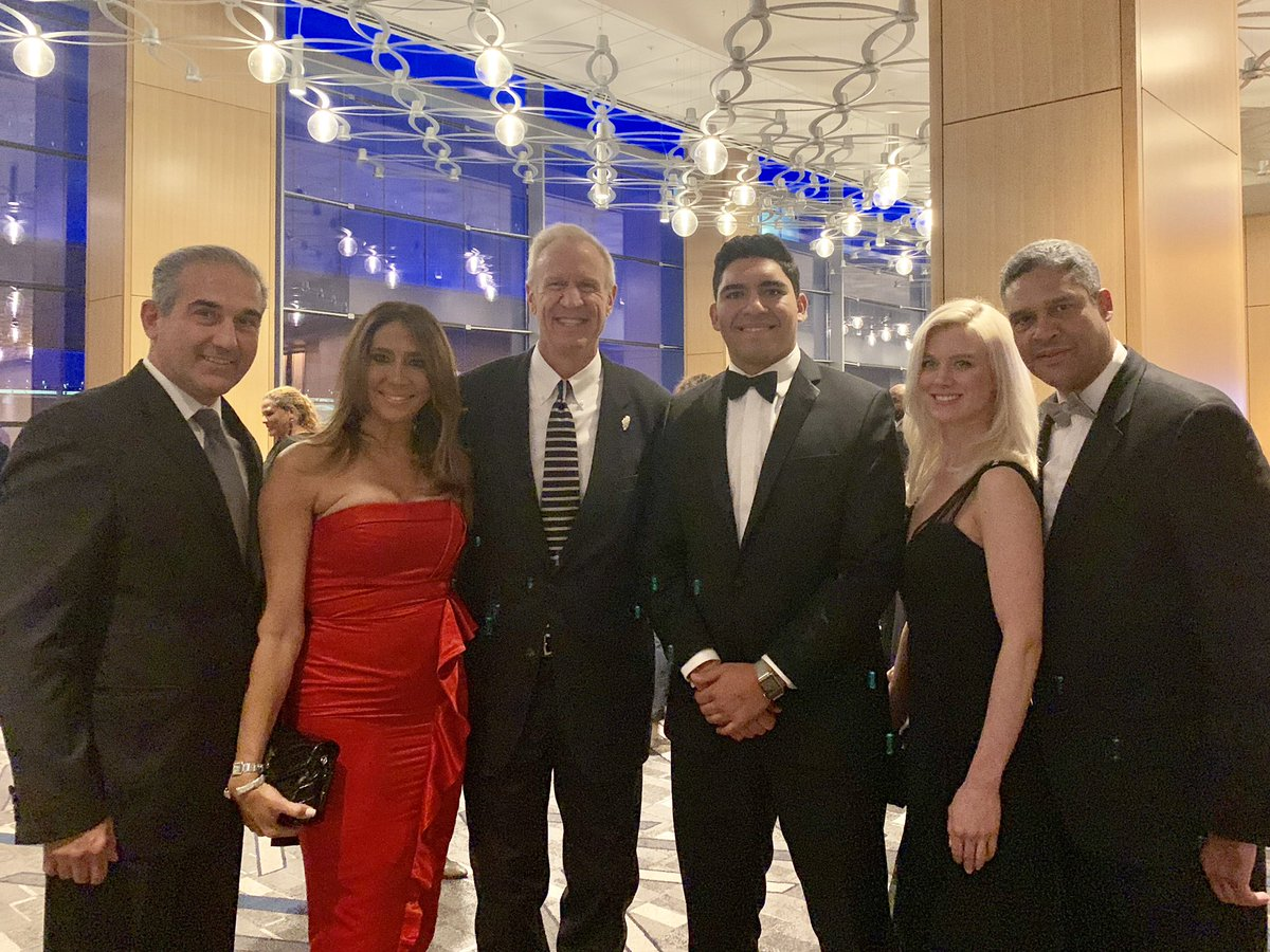 Sharing The Event With Hon Bruce Rauner Governor Of State Illinois General Consul Dominican Rep Giselle Castillo Peter Veremis