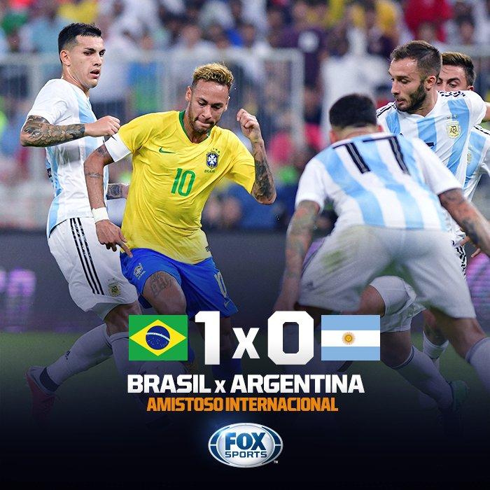 🇧🇷 FIIIIIIIIIIIIIM DE JOGO! Com gol de Miranda nos acréscimos, Brasil derrota a Argentina (normal) no Superclássico!