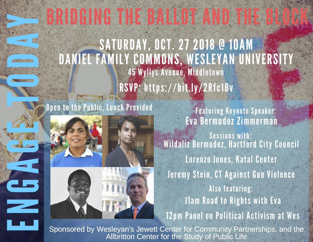 "test Twitter Media - Register now for ""Engage Today: Bridging the Ballot and the Block,"" a half day conference on Oct 27 designed to highlight local leaders activating voters, as well as students engaged in #politicalactivism on campus and beyond! https://t.co/fxhOP5MPUM @Wes_engage https://t.co/W5p3XJjsLN"