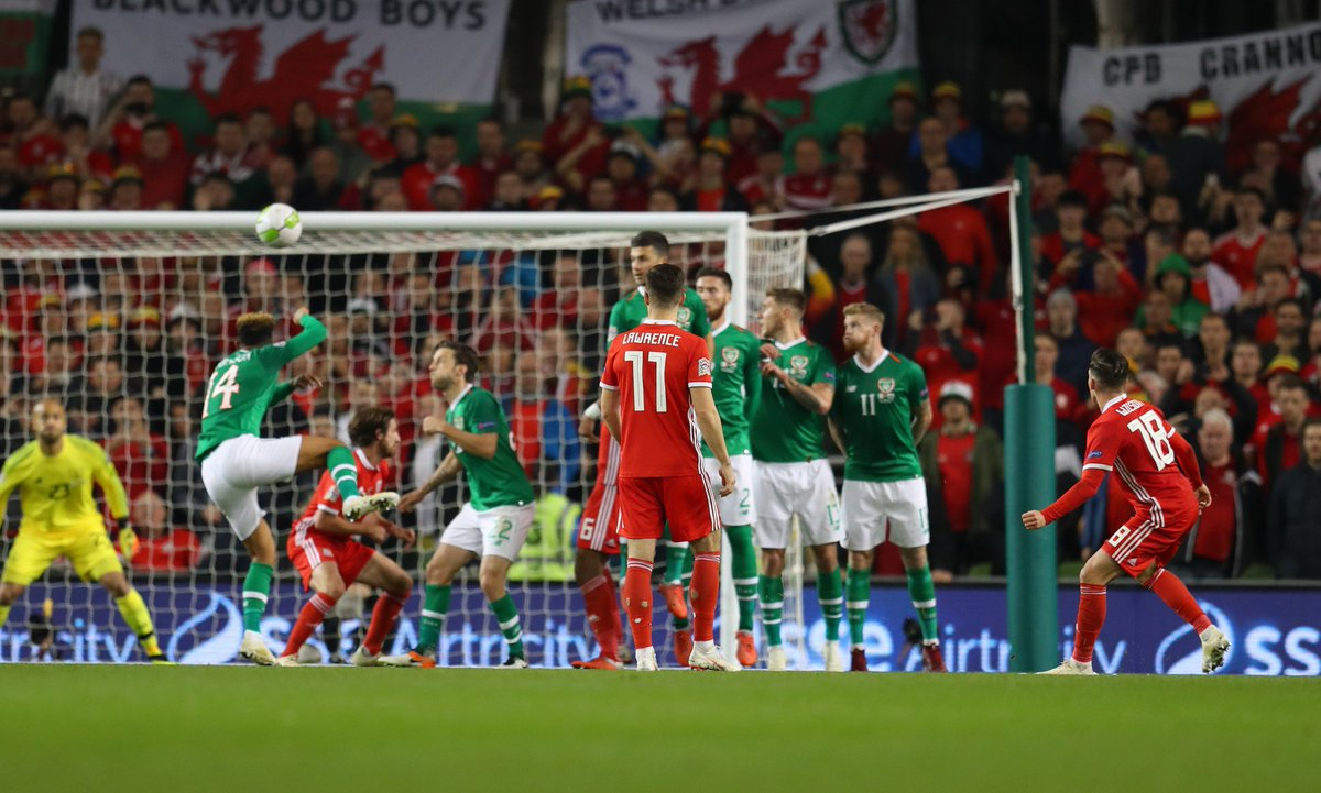 What a moment for Harry Wilson and this young Wales team!  ⚽ They lead the Republic of Ireland 1-0 in the #NationsLeague and the away fans are loving it!  📻 Live commentary on @BBCRadioWales   📱 Or follow #IRLWAL online here 👉  https://t.co/fnZ5JdMSxN