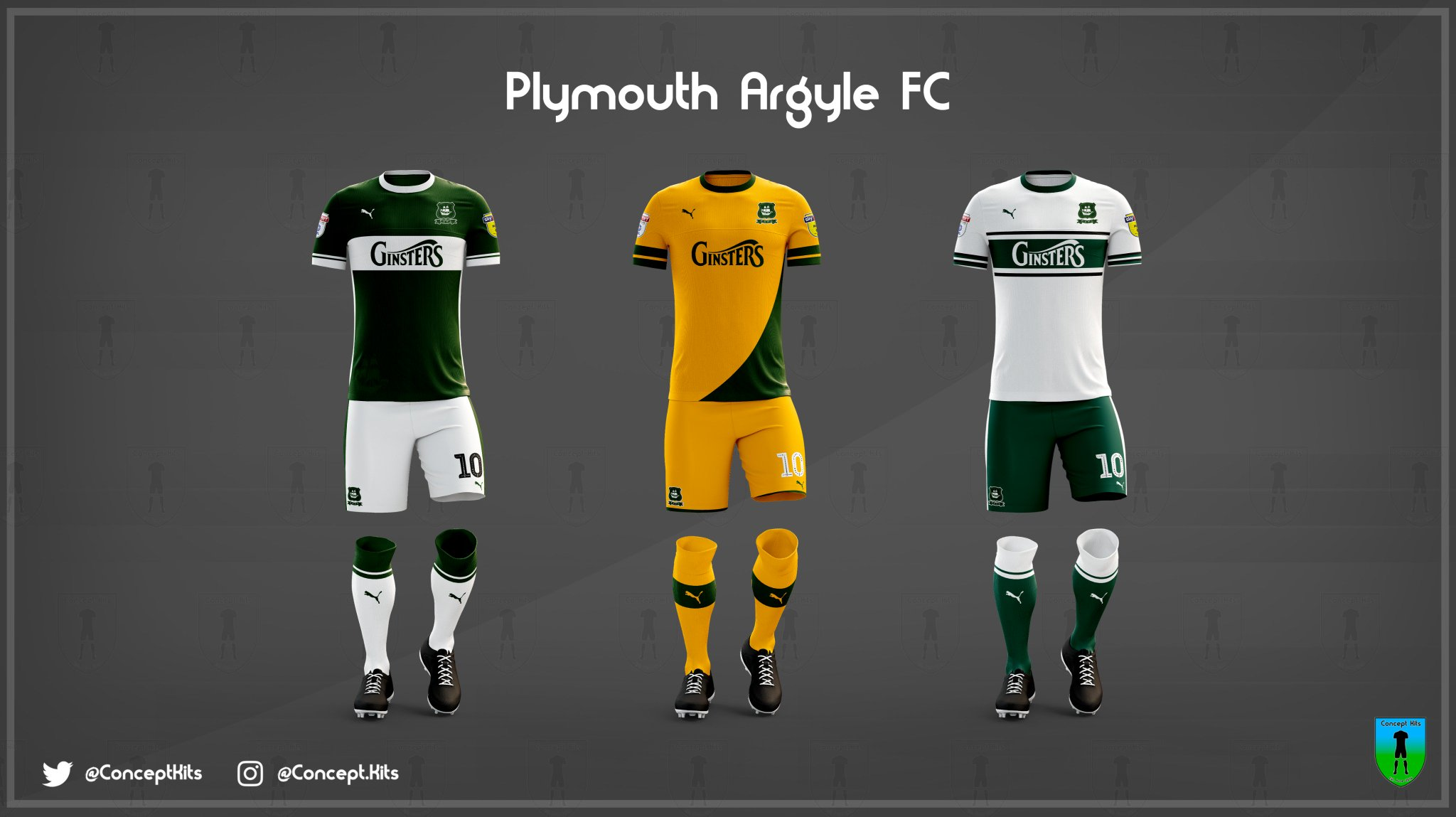 18ba2be3c93 Plymouth Argyle s Three 2019 20 Concept Kits are Here