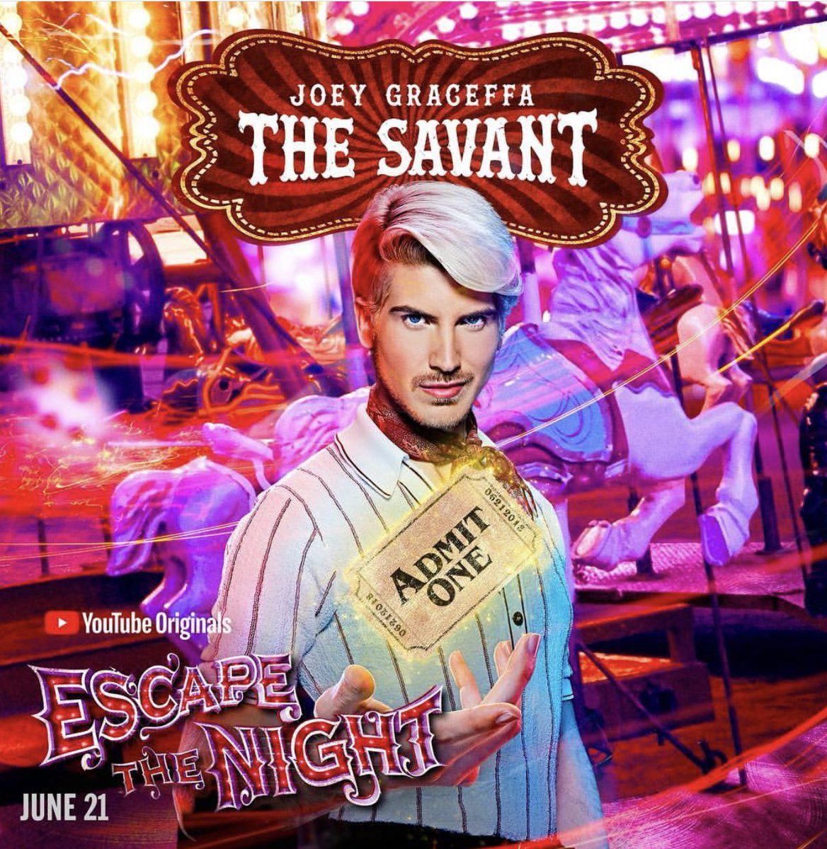 Guys! We only have two more days to vote for Escape the Night so pleaseeee make these last two days count, especially if you want a season 4! 🎭🎪🎟🎠 #ETN3ForStreamys