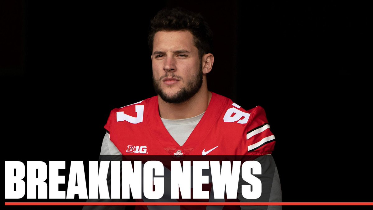 Breaking: Nick Bosa will withdraw from Ohio State in order to focus on rehabbing his core injury and training ahead of the NFL draft.