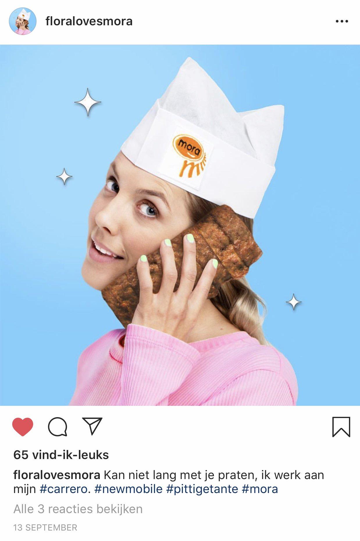 Mora maakt Instagrampagina met een knipoog naar fitgirls https://t.co/CadxvVyDAY https://t.co/OBNnurmfJ5