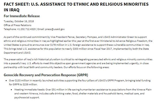 FACT SHEET: U.S. Assistance to ethnic and religious minorities in #Iraq   https://t.co/OzuzQpbGCu #USAIDTransforms