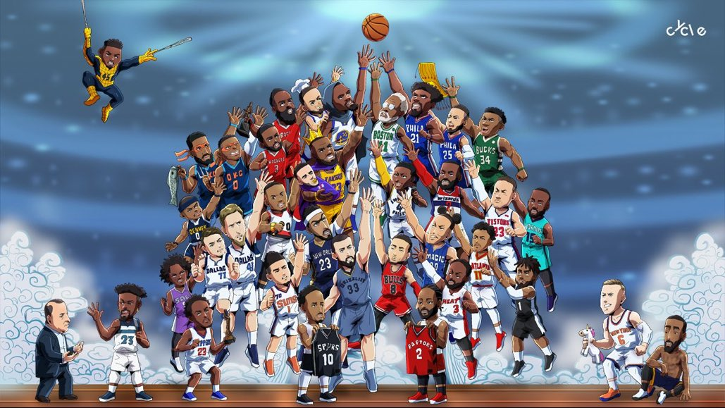 This is gold — Jimmy Butler, LeBron/Lonzo and DeMar/Kawhi. <br>http://pic.twitter.com/7AX6wtEhQ4