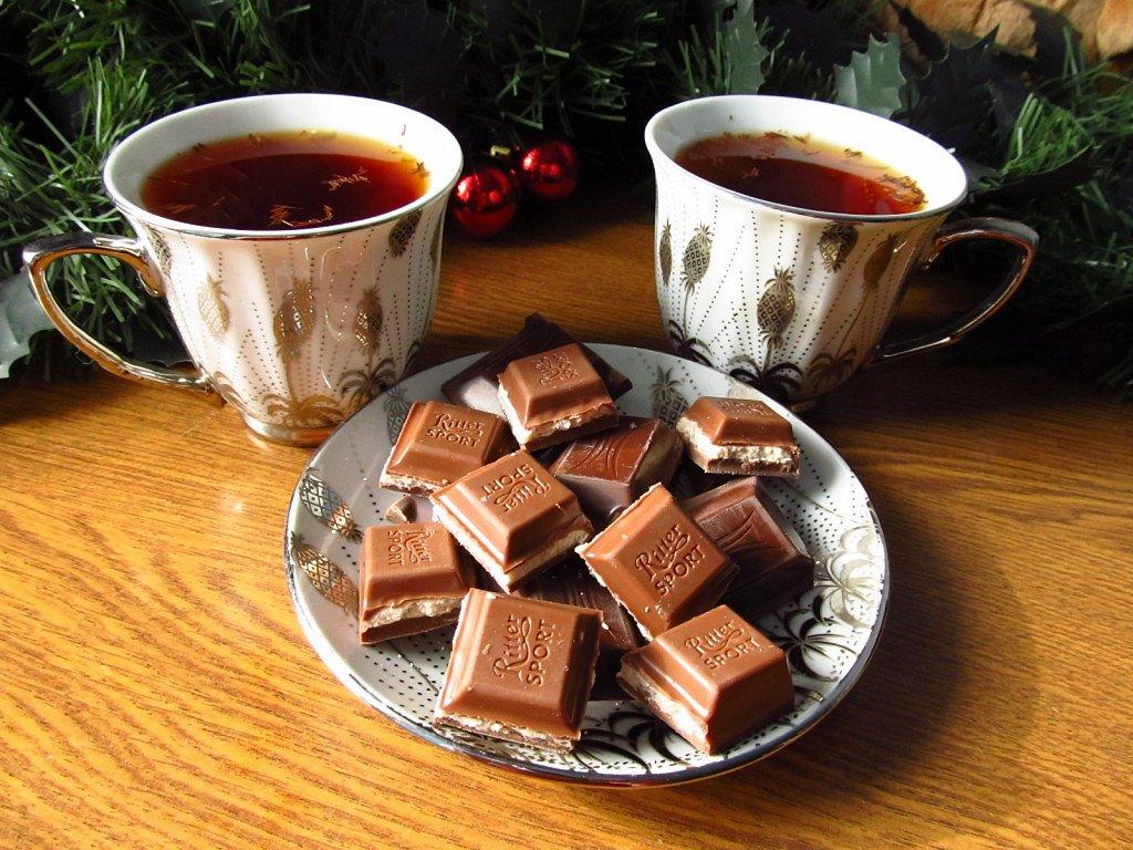 Открытка чай на двоих, для бабушек дедушек