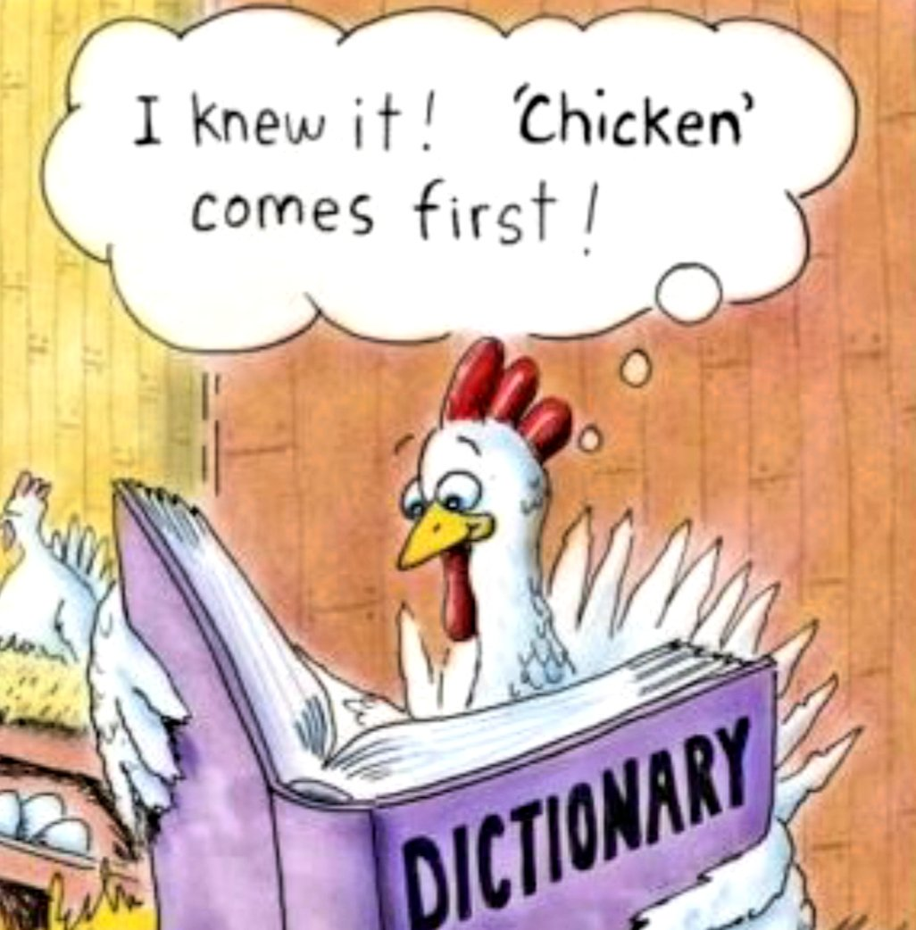 Image result for chicken cartoon with funny text October 2018