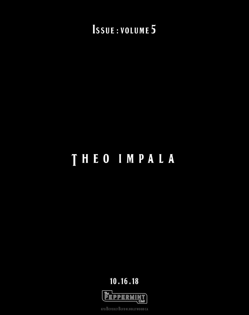 Issue Presents: Volume 5 TONIGHT! @TheophilusL & @tameimpala will be performing! LETS GOOOO!