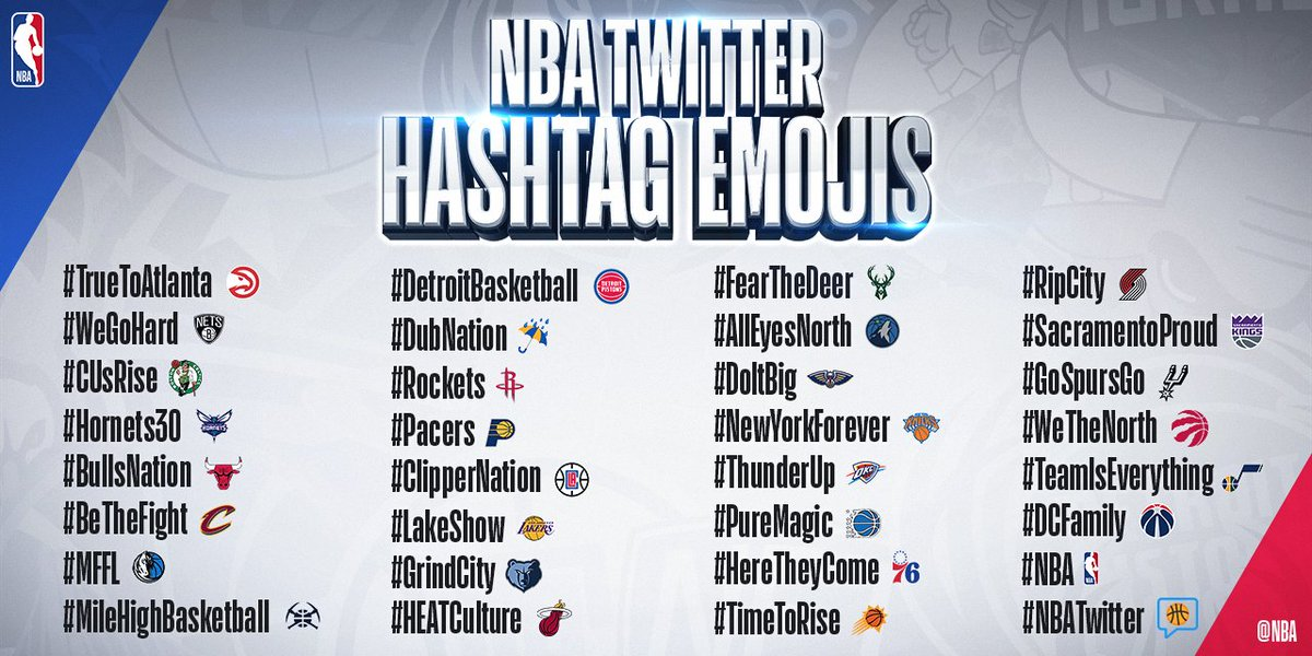👀 this season's team hashtags!  🙌 #NBATwitter