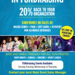 Add a little FUN to your fundraising when you partner with Main Event! Get 20% donated back to your organization when you book a fundraising event.