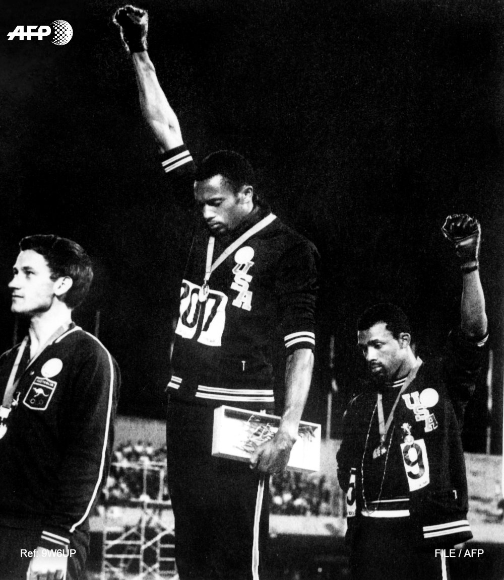 #OnThisDay in 1968 American athletes Tommie Smith and John Carlos raised their black-gloved fists in silence, their heads bowed in protest calling for racial equality, as the US national anthem was played during the medals ceremony for the 200m race at the Mexico City Olympics
