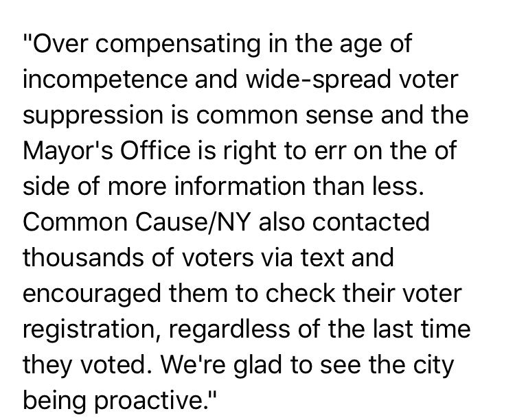 Hey @NYCMayorsOffice, thank you for caring about New York voters.