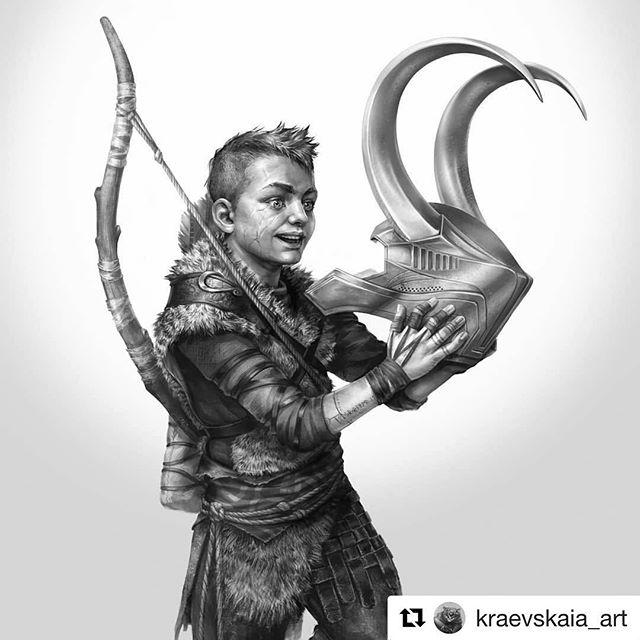 'This thing is just so awesome. Dad, can we take this?!' #inktober #fanart by Kraevskaia Art bit.ly/2OvZego