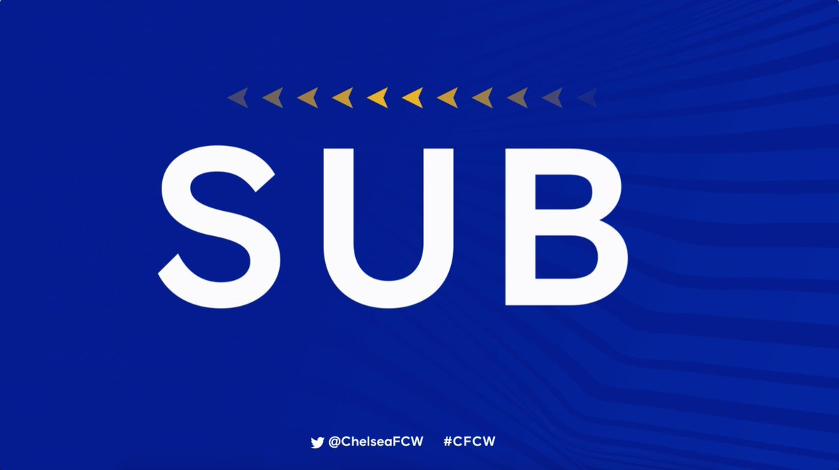 A final Chelsea change: Thorisdottir is on for Ingle. 1-0 [86] #CFCW