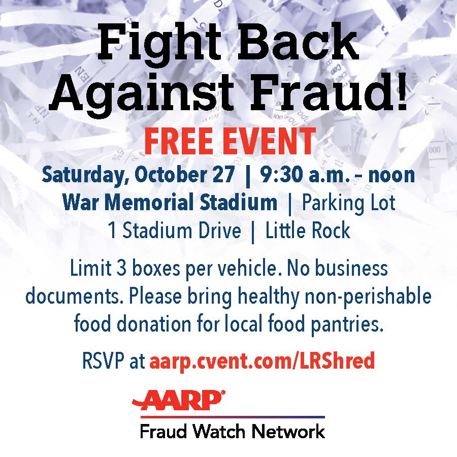 Join AARP Arkansas for FREE Shredding in Little Rock