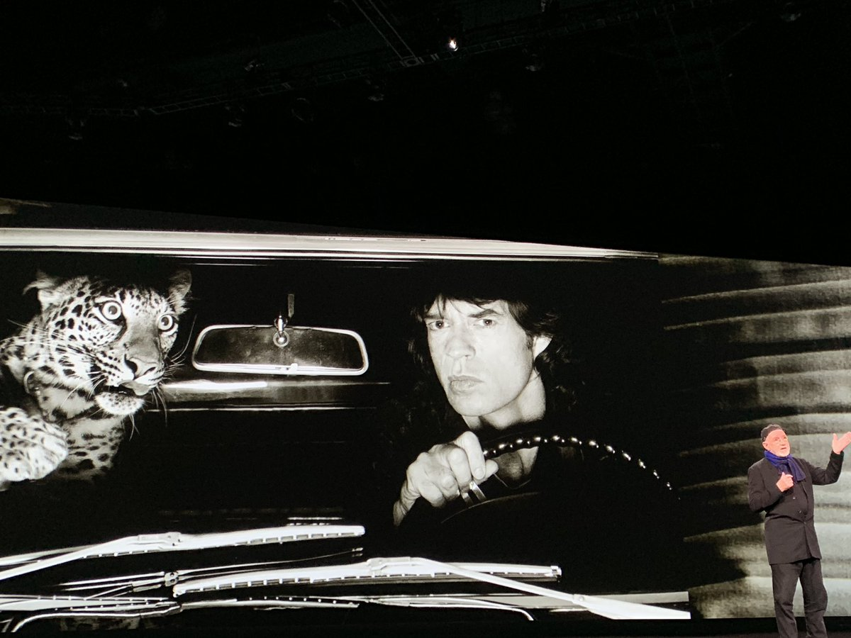 MyPOV: @MickJagger and the leopard. Life before photoshop and a world of double exposure. #AlbertWatson #AdobeMAX