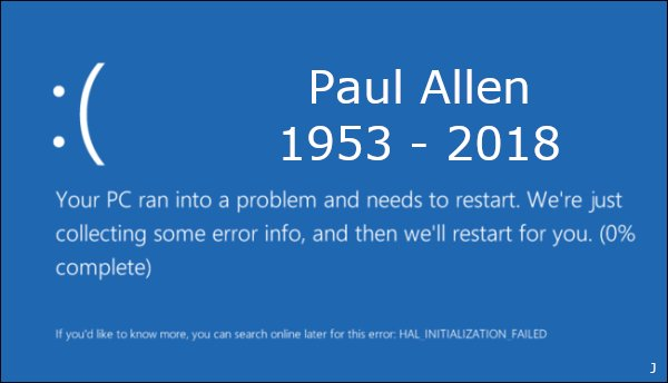 test Twitter Media - Paul Allen (1953-2018) #Microsoft https://t.co/ievh6zZNm2