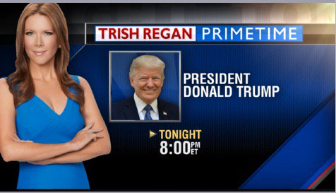 Tune in TONIGHT for my exclusive interview with the President. 8pm on #TrishRegan Primetime @FoxBusiness