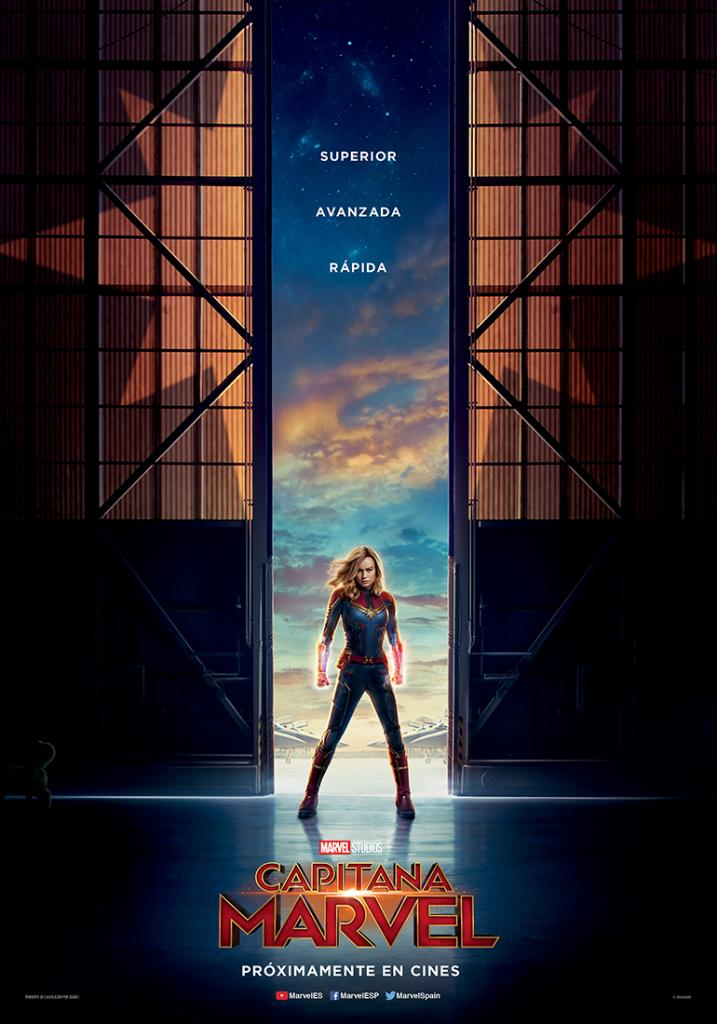 Ella se acerca... #CapitanaMarvel, 8 de marzo de 2019 en cines. https://t.co/OLskc0CS05