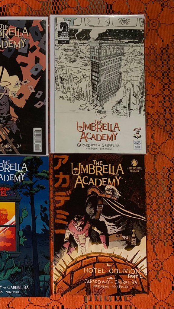 Umbrella Academy Hotel Oblivion #3A Ba Variant NM 2018 Stock Image