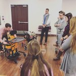 Today in pediatrics students learned about the available seating and mobility equipment for children. Thank you to Ben from @GoNumotion and High Point Medical Center physical therapist and seating and mobility expert, Jenny, for coming teaching our students today! . #hpudpt