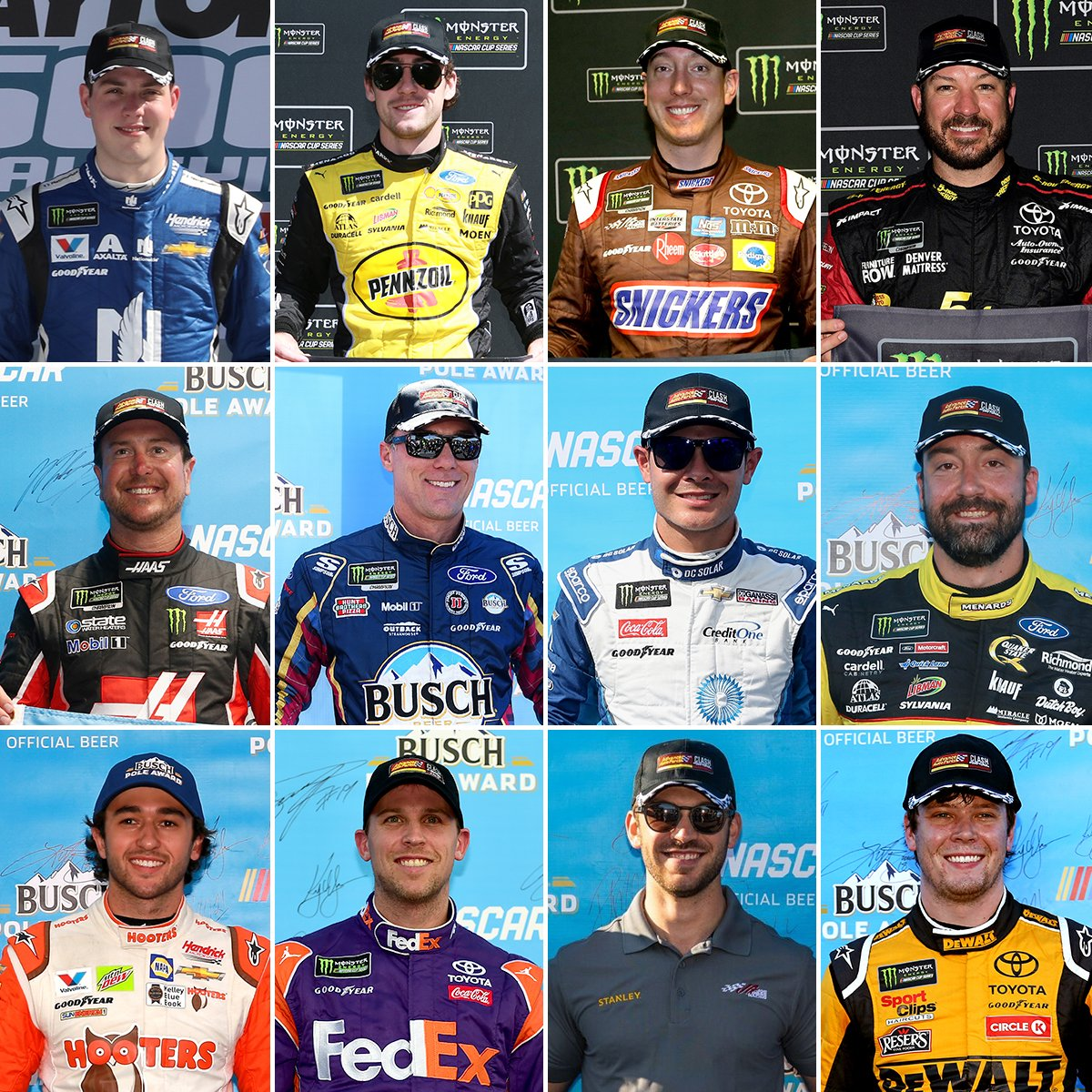 So far, 12 drivers have officially qualified for the 2019 #AdvanceAutoClash with pole wins this season. #AdvanceOnTrack