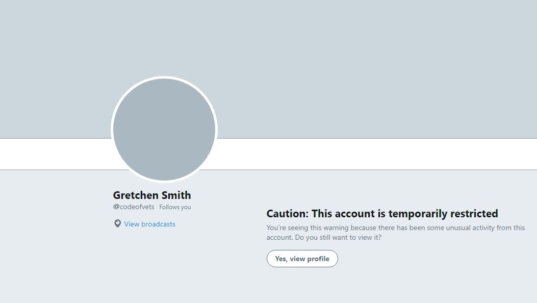 Please retweet:  @twitter @Support  You have restricted an account that helps veterans with PTSD who are considering suicide. Please reinstate  accoun@Gretche24181592t ASAP!! We lose 22 veterans a day to suicide. THIS is one of the few accts that actually saves lives!!