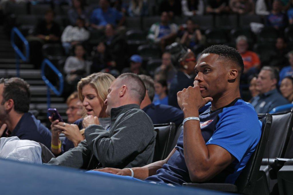 Russell Westbrook will miss the Thunder's season opener tonight vs. Warriors, per @MarcJSpearsESPN