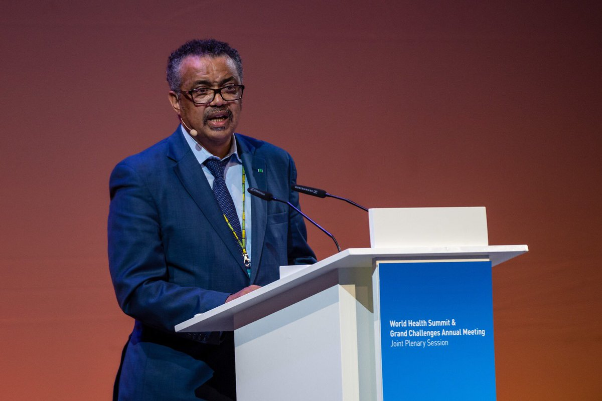 """""""Health is the most precious commodity on earth. With good health, anything becomes possible. Without it, getting out of bed can seem an insurmountable challenge. In short, health is a platform for sustainable development"""" - @DrTedros #WHS2018"""