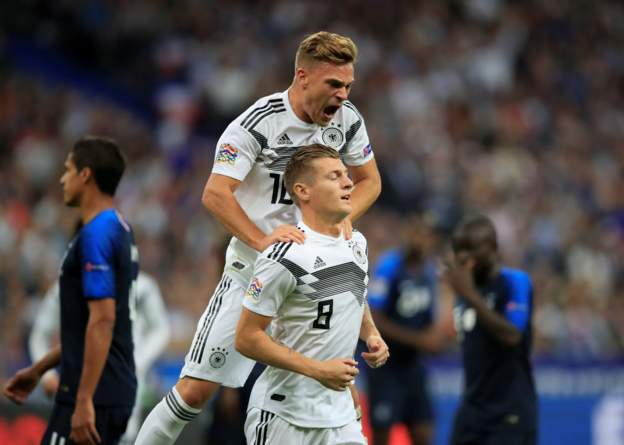 Germany have taken the lead against France through a Toni Kroos penalty.  LIVE: https://t.co/AJUXGywEJ6 #FRAGER