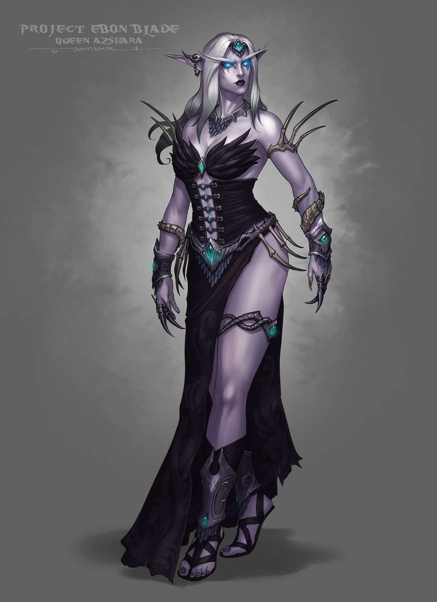 Zach Of The Ebon Blade On Twitter Queen Azshara Would Make A Most