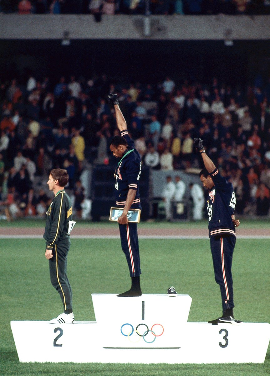 On this day 50 years ago, Tommie Smith and John Carlos courageously protested racial inequality in America by raising their fists during the national anthem at the Mexico Olympics.