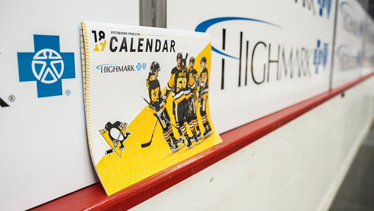 We tried to come up with a calendar pun, but it was week… 😏  You've had the date marked. Come to tonight's game and receive a free team calendar, courtesy of @Highmark!