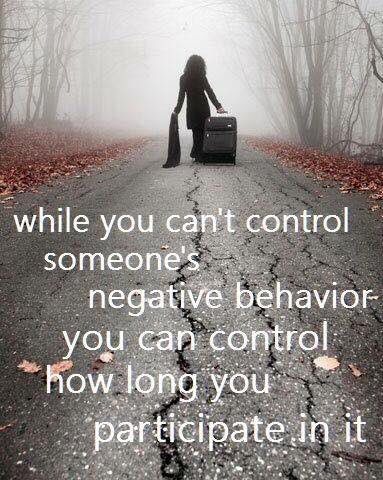 While you can't control someone's negative behaviour you can control how long you participate in it.   via @KariJoys  #ThinkBIGSundayWithMarsha #InspireThemRetweetTuesday #Life #JoyTrain #IQRTG #Love #LightUpTheLove #LUTL #WednesdayWisdom #ThursdayThoughts #FridayFeeling #ShineOn<br>http://pic.twitter.com/qXHuX4qAxb