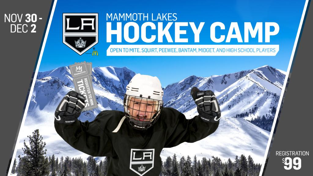 The LA Kings Hockey Development team is headed to Mammoth Lakes! Sign your child up now for 3 hockey-filled days with Kings Alumni and development staff. 🏒 https://t.co/PMi7f2bifE