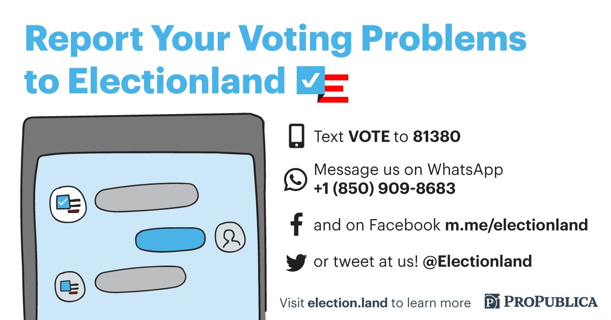 Help track the vote with @electionland!   On Election Day and early voting, we'll check in with you to find out how long it took you to vote and whether you encountered or saw any problems.   Here's how to get involved: