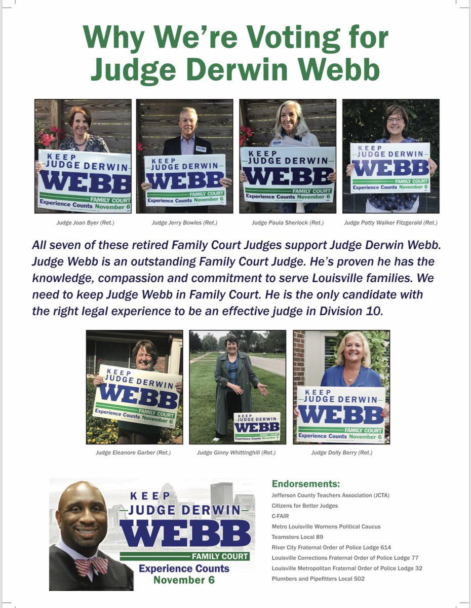 Judge Derwin L  Webb on Twitter: