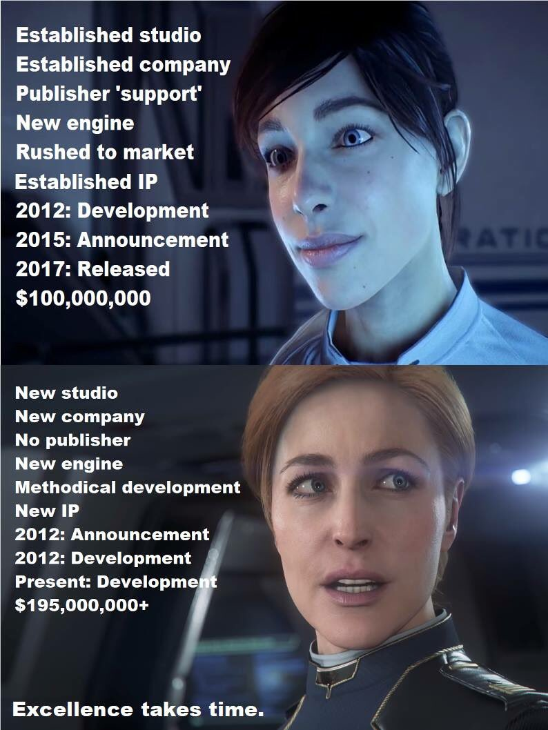 I hope this meme hits home and firmly substantiates future development of space games i e well done robertsspaceind cloud imperium squadron 42 keep