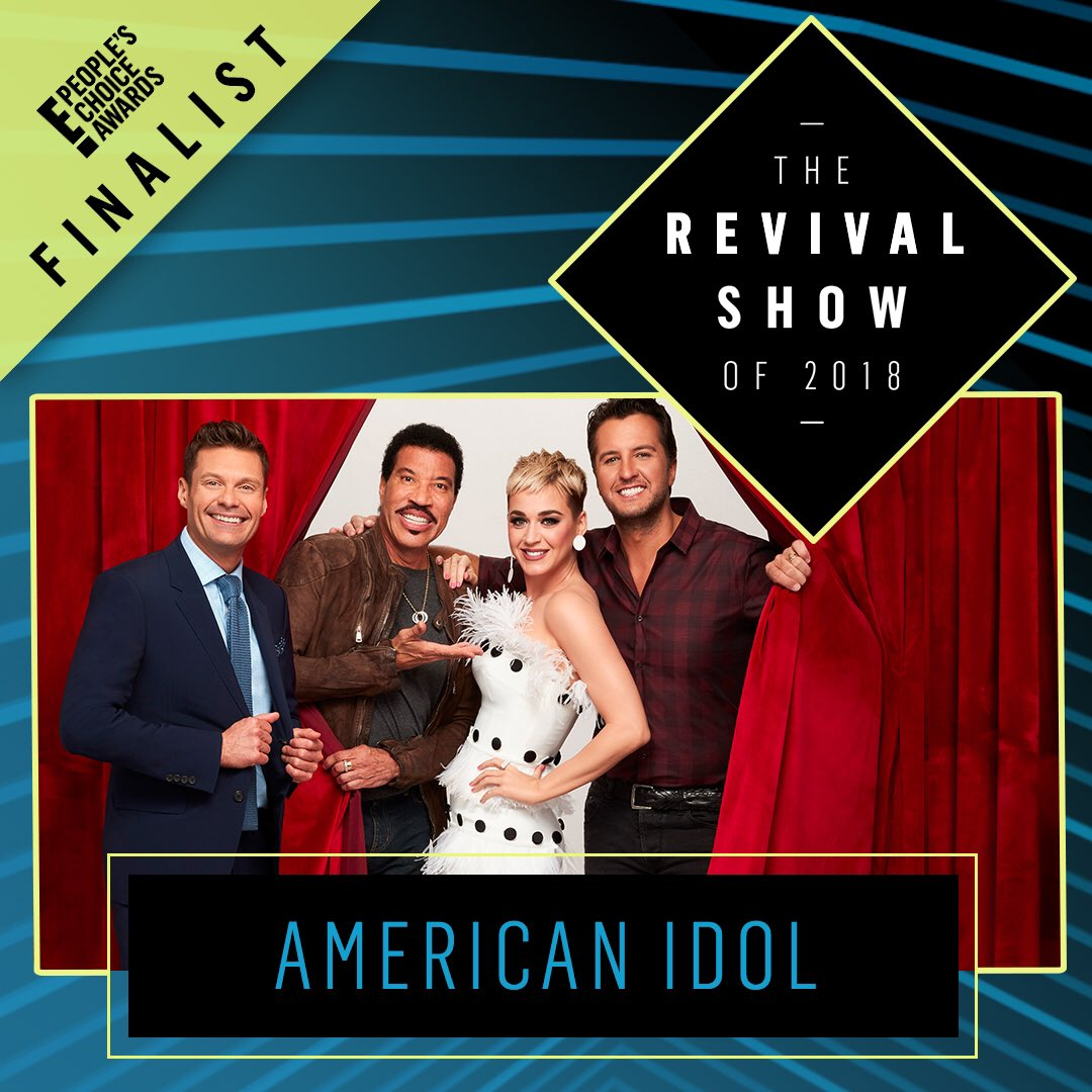 ✨3️⃣ more days to vote for the #PCAs!✨  Retweet to vote #AmericanIdol for #TheRevivalShow of 2018!   Also vote online ➡️ https://t.co/ei0SP3HlpU! You can vote up to 25 times per method per day!