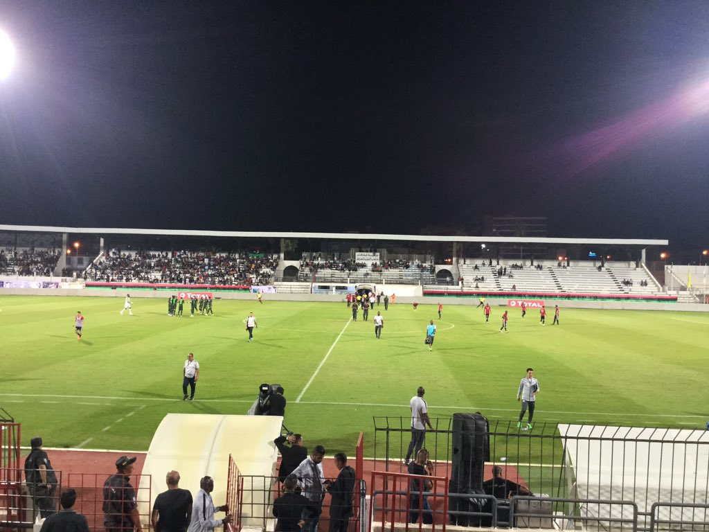 FT: Libya 2-3 Nigeria. It's a very nervy win for us here at the Taïeb M'hiri Stadium, Sfax.