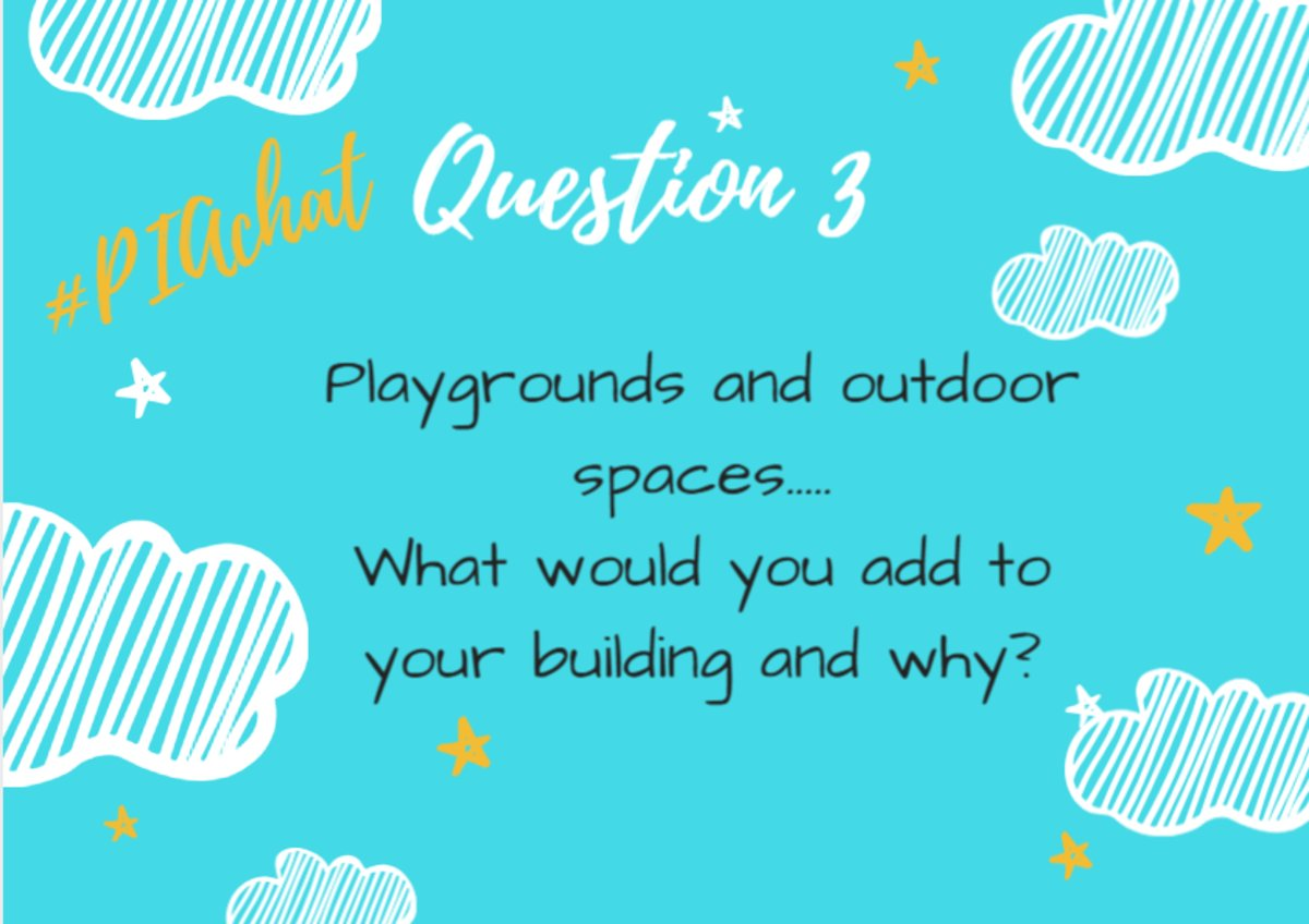 Q3. Playgrounds and outdoor spaces… What would you add to your building and why? #PIAChat