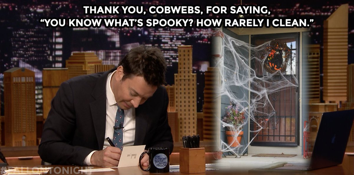 Jimmy finally gets a minute to catch up on his weekly thank you notes: https://t.co/cNZTbFclFq
