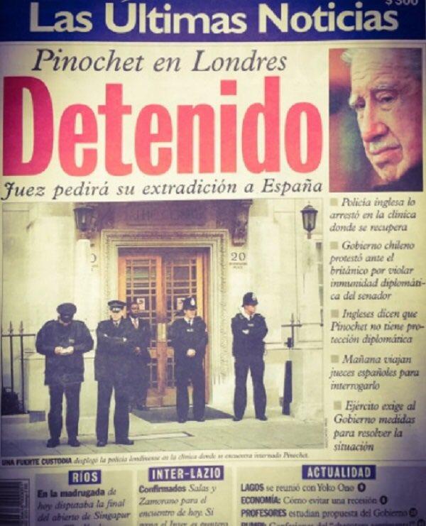 Resultado de imagen para Fotos de Augusto Pinochet es detenido por orden del juez español Baltasar Garzón