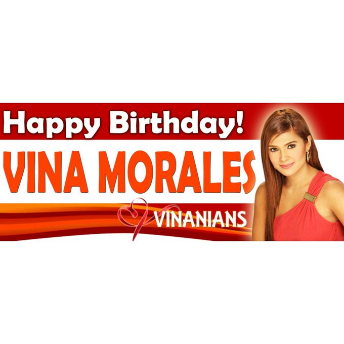 Happy Birthday to our LOVE Vina Morales.. Wishing you health, wealth and happiness. We LOVE you V I N A..  VINA