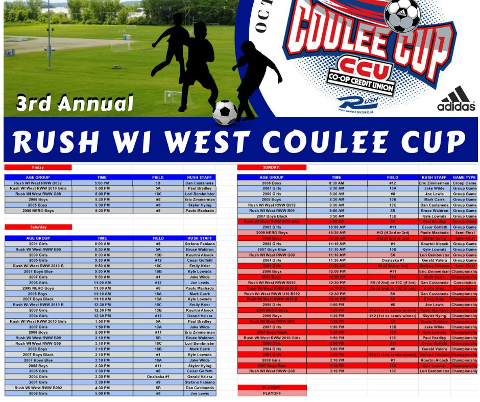 ... and up to date information or the Coulee Cup be sure follow us on our  Facebook page and click